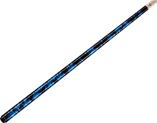 product image for Valhalla VA211 by Viking 2 Piece Pool Cue Stick Blue Marble Paint No Wrap 16-21 oz. Plus Rosin Bag