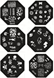 Kawayee Beauty Nail Art Tools Stamping Manicure Image Plates Accessories Kit Decorations Nailart Polish Stamp Collection Set QA43-QA48