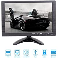 10.1 inch IPS HD CCTV Security Surveillance Monitor with 1280x800 Resolution Support HDMI Input 16:9 Built-in Dual Speakers PC/BNC/VGA/AV/HDMI/USB for Suitable for home monitoring or car display
