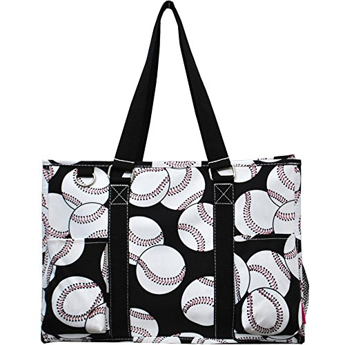 Baseball NGIL Zippered Caddy Organizer Tote Bag