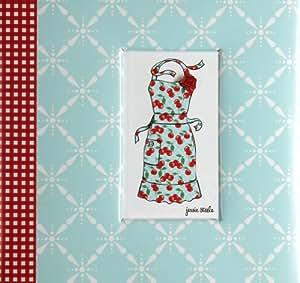 C.R. Gibson Pocket Page Recipe Book, Jessie Steele Kitchen Cherry