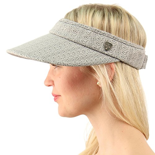 UPF UV Sun Protection Wide Brim 100% Cotton Beach Pool Visor Golf Cap Hat Gray