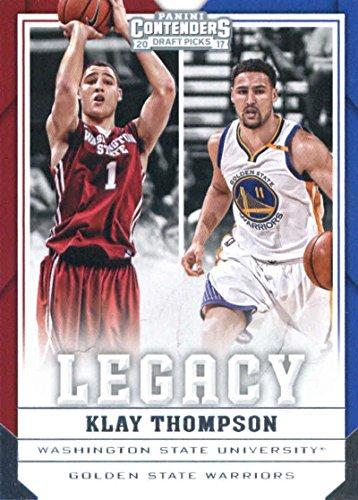 - 2017-18 Panini Contenders Drafts Picks Legacy #22 Klay Thompson Golden State Warriors/Washington State Cougars Basketball Card