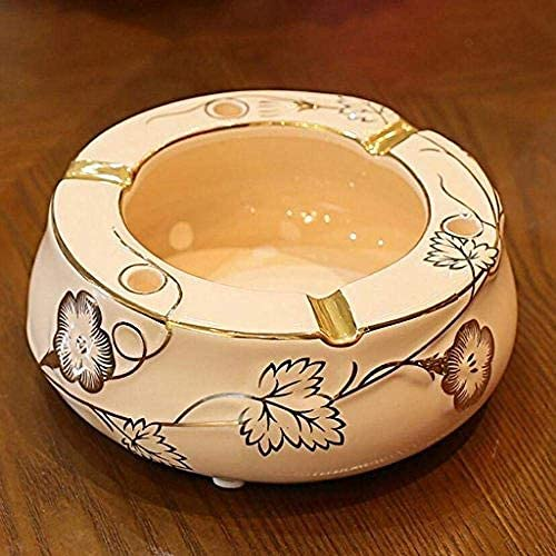 葉巻灰皿, ワン:灰皿煙オフィスギフト-C、サイズと花セラミックリビングルームローズ (Size : B)
