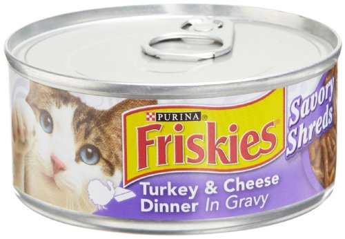 Purina Friskies Savory Shreds Wet Cat Food - 24-5.5 oz. Cans