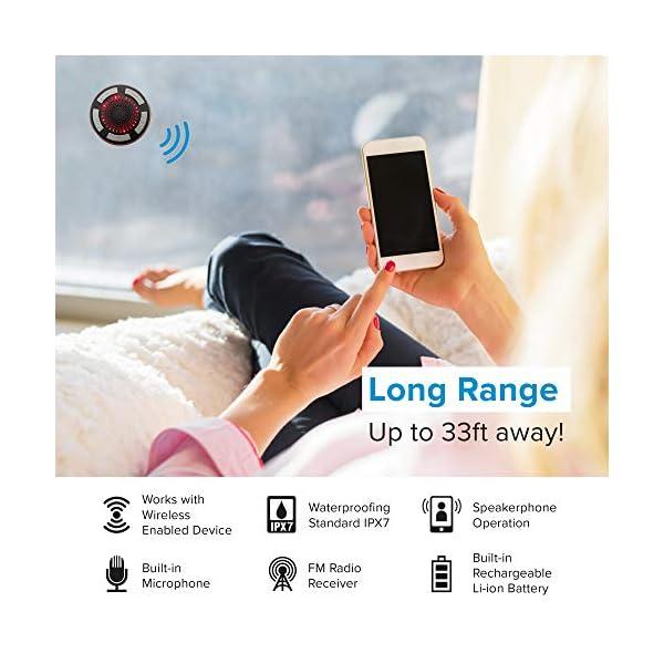 Bluetooth Shower Speaker Waterproof by Johns Avenue features