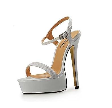 Sandales pour Femmes Sandales à Bout Ouvert à Bout Ouvert Noir Rouge Blanc  Taille 1d344a0db02