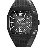 All Blacks - 680150 - Montre Homme - Quartz Analogique - Cadran Noir - Bracelet Plastique Noir