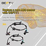 OCPTY 2pcs ABS Sensor Front Left Right Fit for