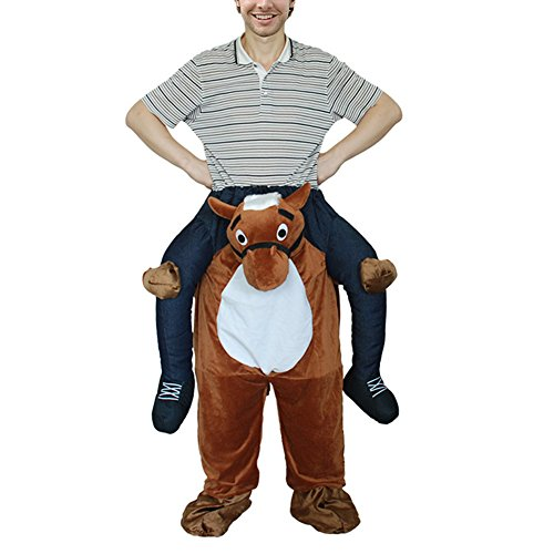 Zehui Creative Novelty Piggyback Costumes Adults Funny Pants Ride-on Costume (Quick Creative Halloween Costumes For Adults)