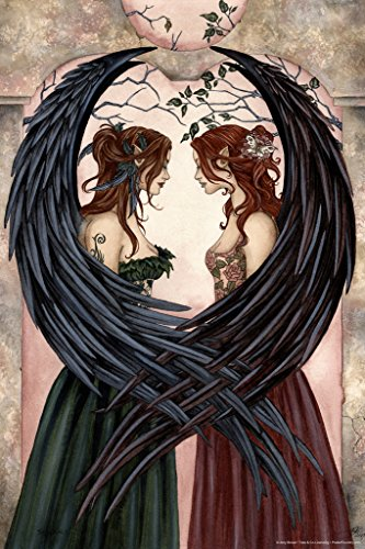 Sisters by Amy Brown Art Print Poster 12x18 inch