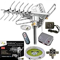 Lava Hd2605 Hdtv Digital Rotor Amplified Outdoor Tv Antenna Hd Uhf Vhf Fm Cable (Ship From Usa)
