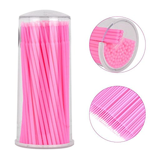 Yimart 400pcs Pink Regular Size 3mm Disposable Mascara Applicator Individual Eyelash Extension Micro Brush Yimart®
