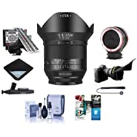 IRIX 11mm f/4.0 Blackstone Lens for Nikon DSLR Cameras - Manual Focus Bundle With Flex Lens Shade, LensAlign MkII Focus Calibration System, Peak Lens Changing Kit Adapter, And More