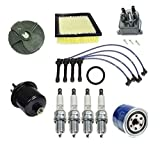 Tune Up Kit Fuel Air Filter NGK Spark Plugs Wire Set Cap Rotor Honda Civic