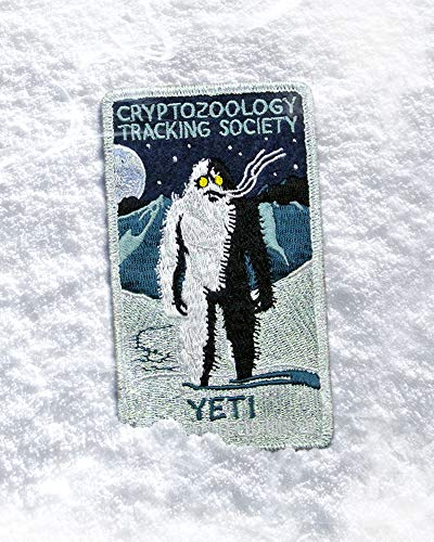 (YETI Patch - Cryptozoology Tracking Society Yetti Abominable Snowman Sasquatch Bigfoot Mountians Celestial Badge)