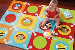 Skip Hop Baby Infant and Toddler Zoo Playmat with Interlocking Foam Floor Tiles, Multi Zoo