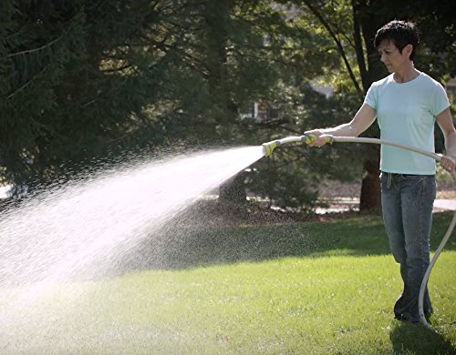 The Relaxed Gardener Watering Wand - 15 inch Garden Hose Nozzle/Sprayer with 8 Adjustable Spray Patterns and One Touch Shutoff Valve Best for Hanging Baskets, Plants, Flowers, Shrubs, Garden and Lawn
