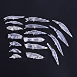 Aorace 17pcs/lot Mix Blank Lures Set Unpainted Fishing Crankbaits Poppers Topwater Minnow Hard Baits Body Tackle Kit For Sale