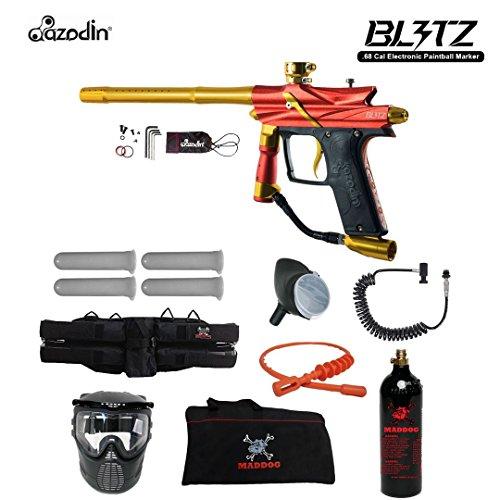 MAddog Azodin Blitz 3 Specialist Paintball Gun Package - - Sports Zephyr 4+3 Harness
