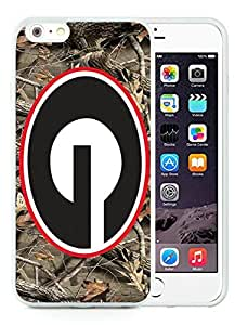 Southeastern Conference SEC Football Georgia Bulldogs White iPhone 6 Plus 5.5 inch TPU Cellphone Case Luxurious and Newest Design