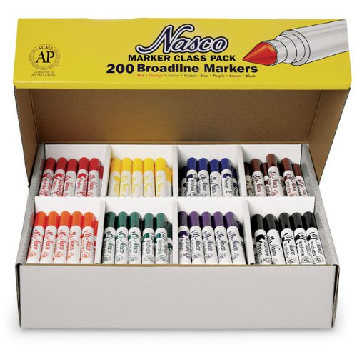 200 Piece Washable Broad Tip Markers Set ()