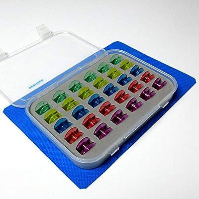 Caja de bobina + 30 bobinas de plástico para máquina de coser en ...
