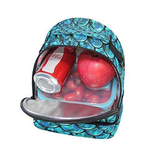 à Sac isotherme Pincnic l'école pour Cooler avec Boîte lunch réglable à bandoulière Alinlo Échelle sirène Tote tWwnaq11F