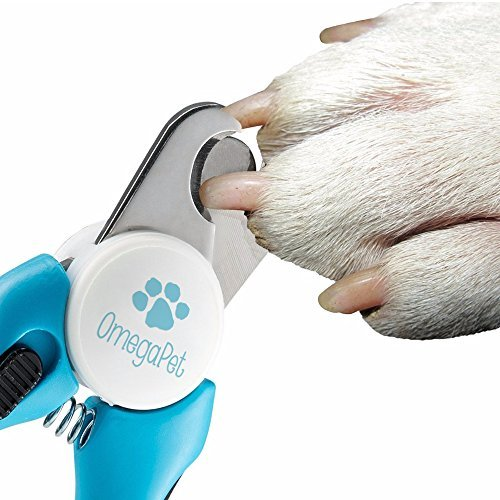 Dog Nail Clippers and Trimmer - Toenail Clippers with Quick Safety Guard to Prevent Overcutting - Dog Nail Trimmer to Smooth Out Nails - Painless Grooming for Large Breed Dogs