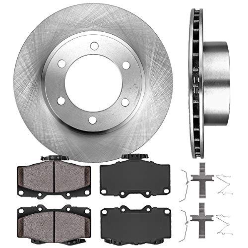 5lug Fits: RL 4 Ceramic Pads Front Kit 2 OEM Repl Brake Rotors High-End