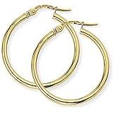 Classic Hoop Earrings in 9Ct Gold 23x25mm