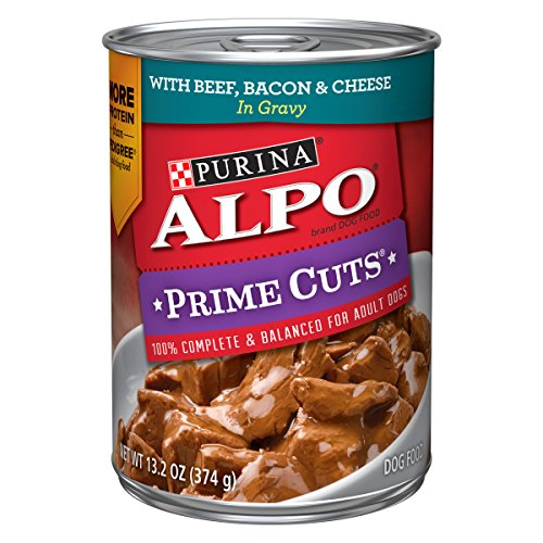 Cut Thick Bacon (Purina Alpo Prime Cuts Beef, Bacon & Cheese In Gravy Adult Wet Dog Food - (12) 13.2 Oz. Cans)