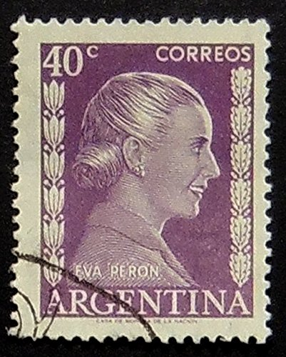 Eva Peron Argentina -Handmade Framed Postage Stamp Art 0795