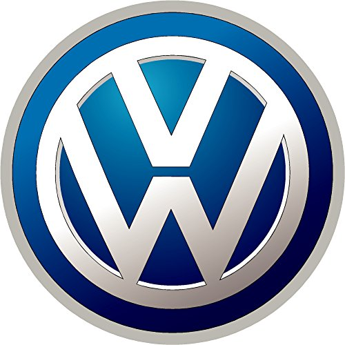 "Volkswagen Blue Wall Decal Replacement Decal Sticker 2 Piece Set (2.5"")"
