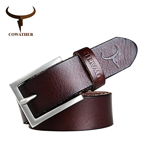 5d2d0d62392 BuyWorld COWATHER 100% cowhide genuine belts for men male belt pin buckle  new fashion brand design ceinture homme  Amazon.in  Clothing   Accessories