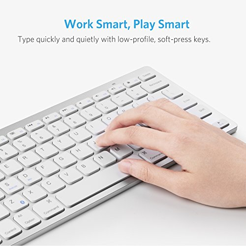 Anker Bluetooth Ultra-Slim Keyboard for iPad Air 2 / Air, iPad Pro, iPad mini 4 / 3 / 2 / 1, iPad 4 / 3 / 2 , New iPad 9.7''(2018/ 2017), Galaxy Tabs and Other Mobile Devices (White) by Anker (Image #3)'