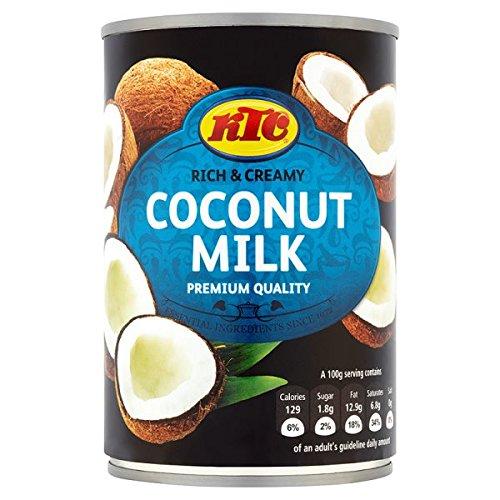 KTC 400 ml de leche de coco (paquete de 12 x 400 ml)