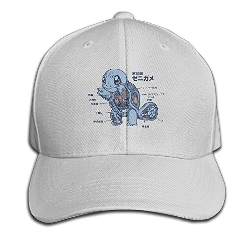 Biological Squirtle Anatomy Men's Cool Snapback Hats