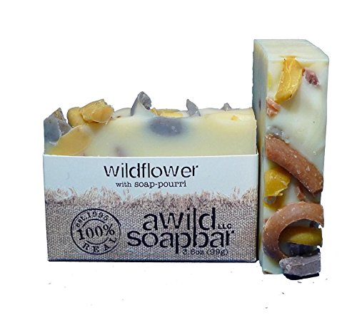Wildflower Natural  Organic Bar Soap with Decorative Soap Confetti, Handmade by A Wild Soap Bar