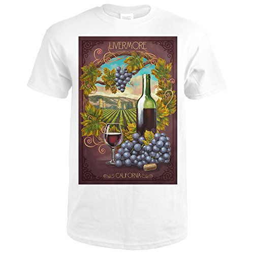 Livermore, California - Merlot (Premium White T-Shirt - Premium Livermore