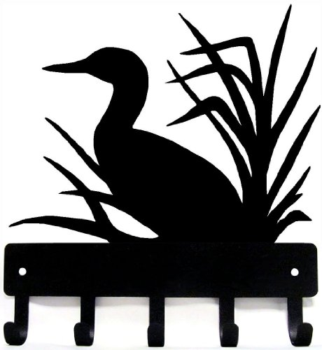 The Metal Peddler Loon Key Rack Hanger - Small 6 inch Wide