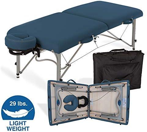 EARTHLITE Portable Massage Table LUNA – Ultra-Lightweight, Patented Aluminum Reiki Frame incl. Flex-Rest Face Cradle Carry Case 29lb