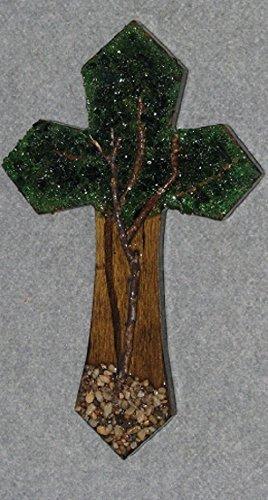 Decorative Wall Crosses, Handmade, Small Tree Of Life, Wooden, Home Wall  Decor