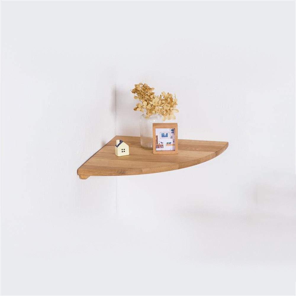 壁掛けラック 木製コーナーラック現代のリビングルームコーナーファン型壁仕切り棚ラックコーナー収納フラワースタンド壁棚ぶら下げディスプレイ装飾 飾り棚 壁掛け 木製 壁 棚 (色 : Wood color, サイズ : 400mm) B07SGBM9K7 Wood color 400mm