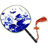 Attractive Chinese Round Fan Classical Dancing Dan With Beautiful Pattern, #14