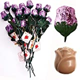 Madelaine Chocolate Sweetheart Milk Chocolate Edible Roses Lavender 12p Deal