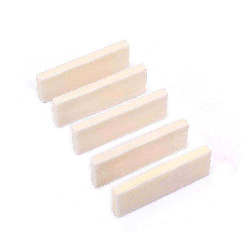 5 Pieces Bone Strings Bridge DIY Personal Saddle /& End Nut for Dobro Accessories