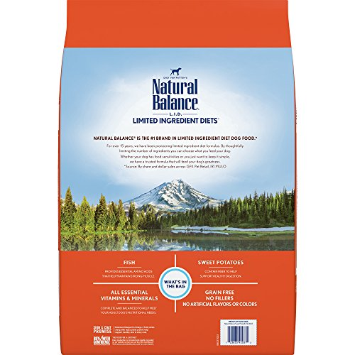 Natural Balance Limited Ingredient Diets Sweet Potato & Fish Formula Dry Dog Food, 26 Pounds, Grain Free