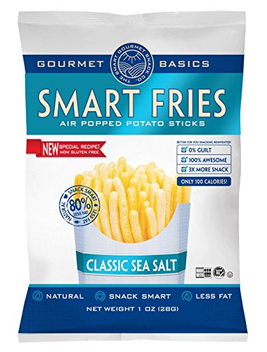 Gourmet Basics Smart Fries Classic Sea Salt, 1-Ounce Bags (Pack of 24)