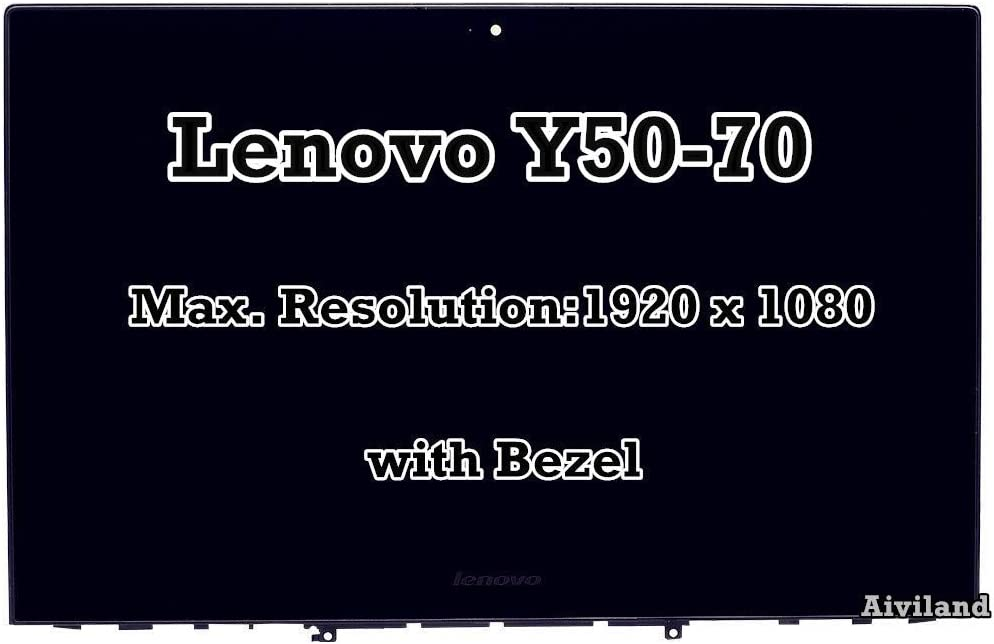 "For Lenovo Replacement 15.6"" LCD LED Screen FHD 1920x1080 Touch Panel IPS Display Digitizer with Frame Bezel Yoga Y50-70"